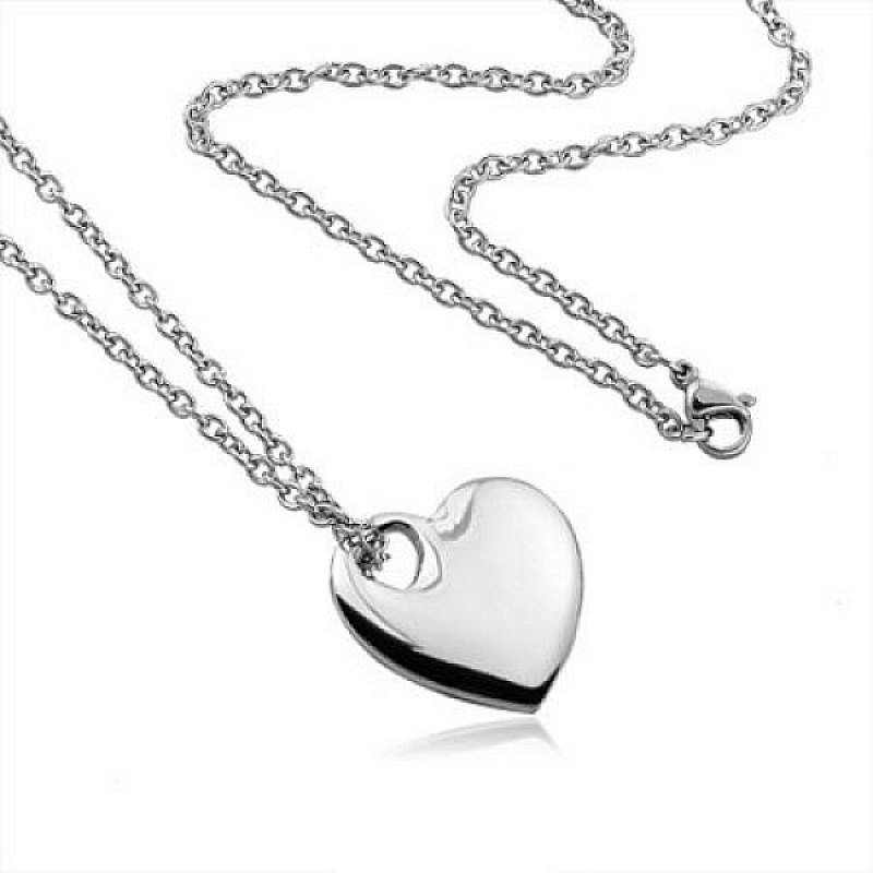 Řetízek s přívěskem Srdce - chirurgická ocel