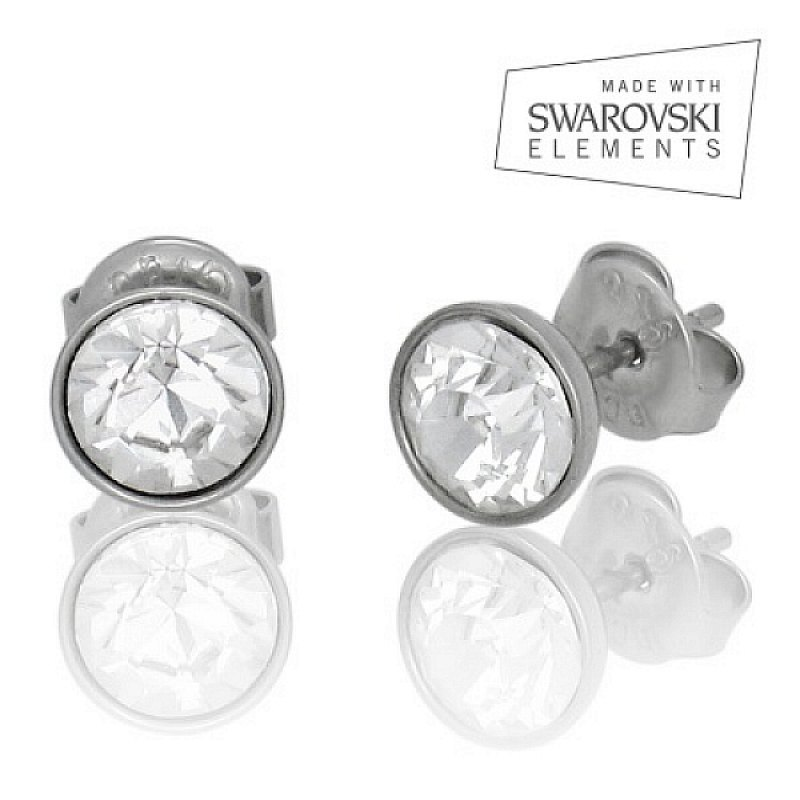 Náušnice se Swarovski krystalem - chirurgická ocel