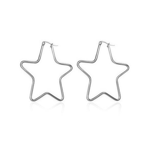 Náušnice Hvězda 4cm - chirurgická ocel