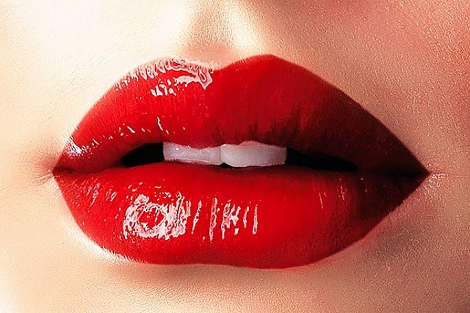 Červené rty - barva vášně
