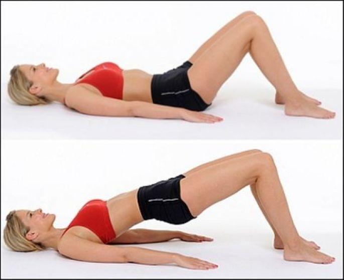 Výsledek obrázku pro cvičení na břicho zvedání pánve