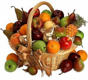 kos s ovocem